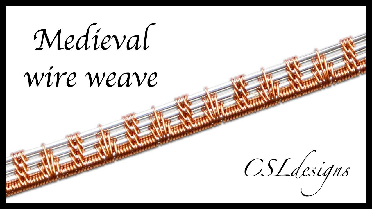 Medieval wire weave ⎮ Wire weaving series - YouTube
