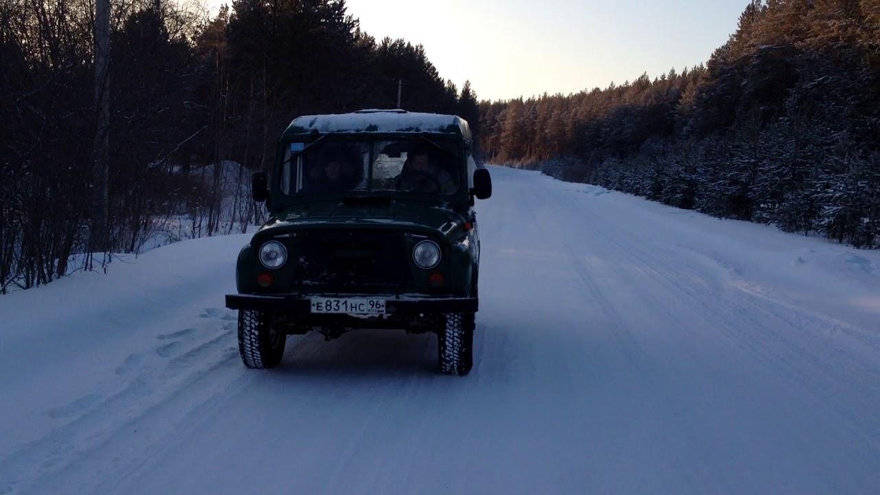 уаз 469 по снегу - YouTube