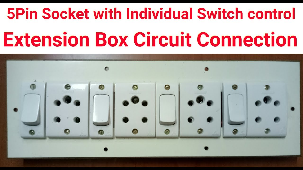 how to make 5pin Extension Switch box - YouTube