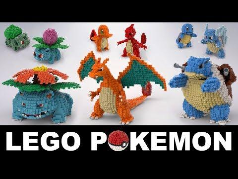 Lego Pokemon Kanto Starters (Full Evolution Lines)
