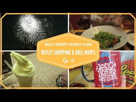 Walt Disney World Vacation April 2015 | Premium Outlet Shopping & We try a Dole Whip | Episode 12