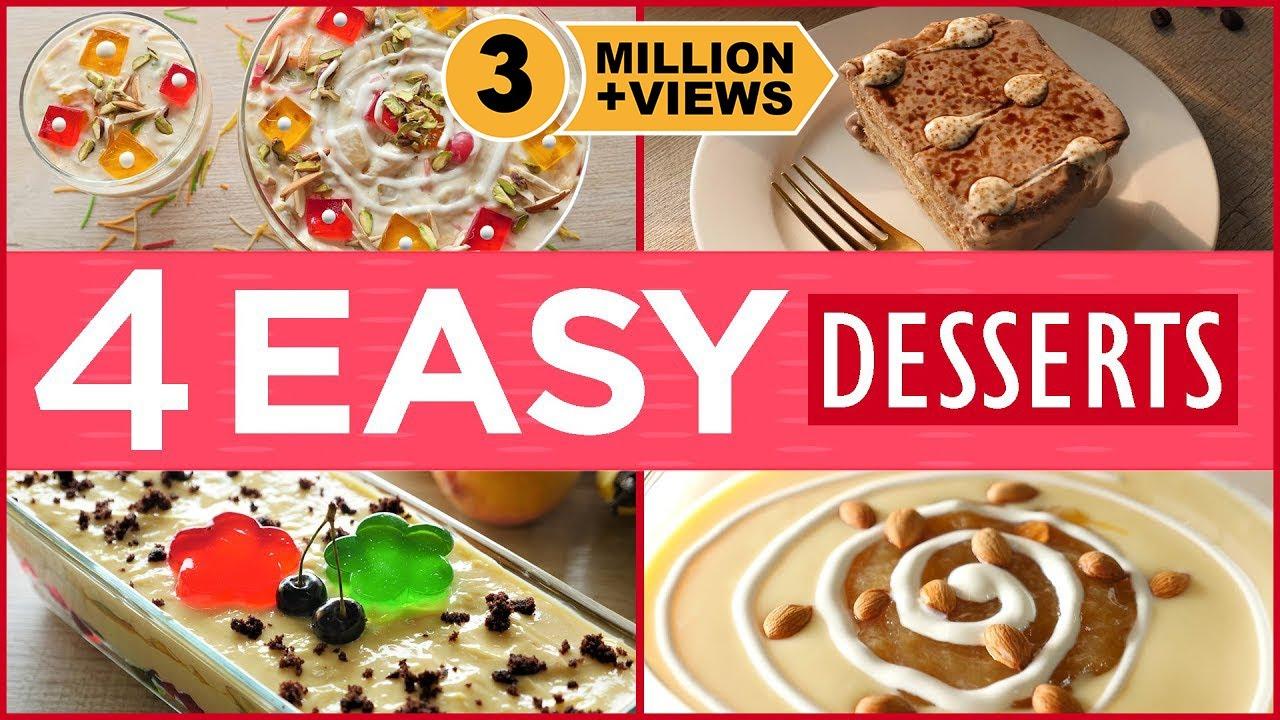 4 Easy Iftar Dessert Recipes By Food Fusion (Ramzan Special Recipes)