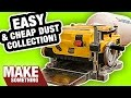 The Easiest and Cheapest Dust Collection for Your Planer