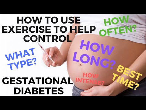 Best exercise for gestational diabetes. How to help control gestational diabetes.