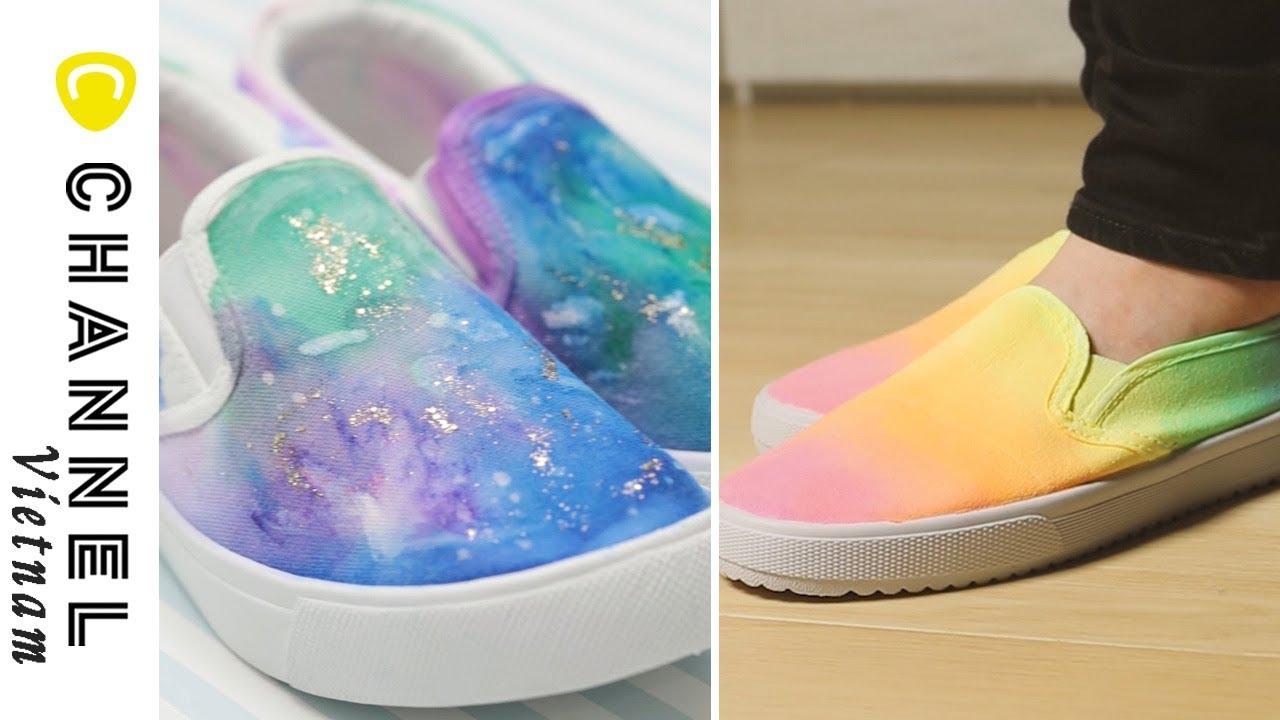 Làm giày galaxy màu sắc