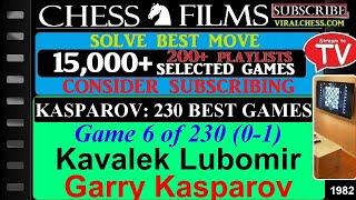 Kasparov: 230 Best Games (#6 of 230): Kavalek Lubomir vs. Garry Kasparov