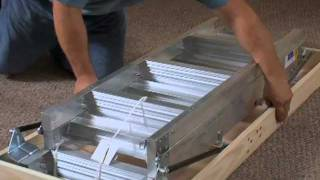 Werner Aluminum Attic Ladder - Long Installation Video