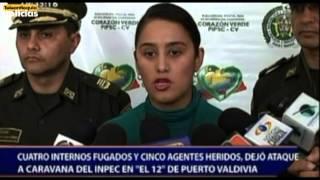 Repeat youtube video Cuatro internos fugados y cinco agentes heridos, dejó ataque a caravana del Inpec en Puerto Valdivia