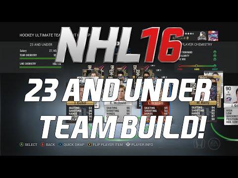 NHL 16 HUT – INSANE 23 AND UNDER TEAM BUILD!