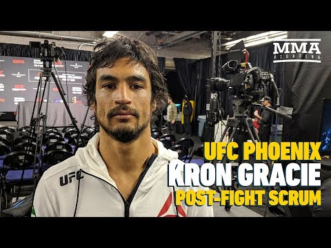 UFC Phoenix: Kron Gracie Says Its Cool That Conor McGregor Respects Gracie Family