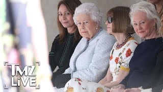 Queen Elizabeth Sits Front Row With Anna Wintour!   TMZ Live