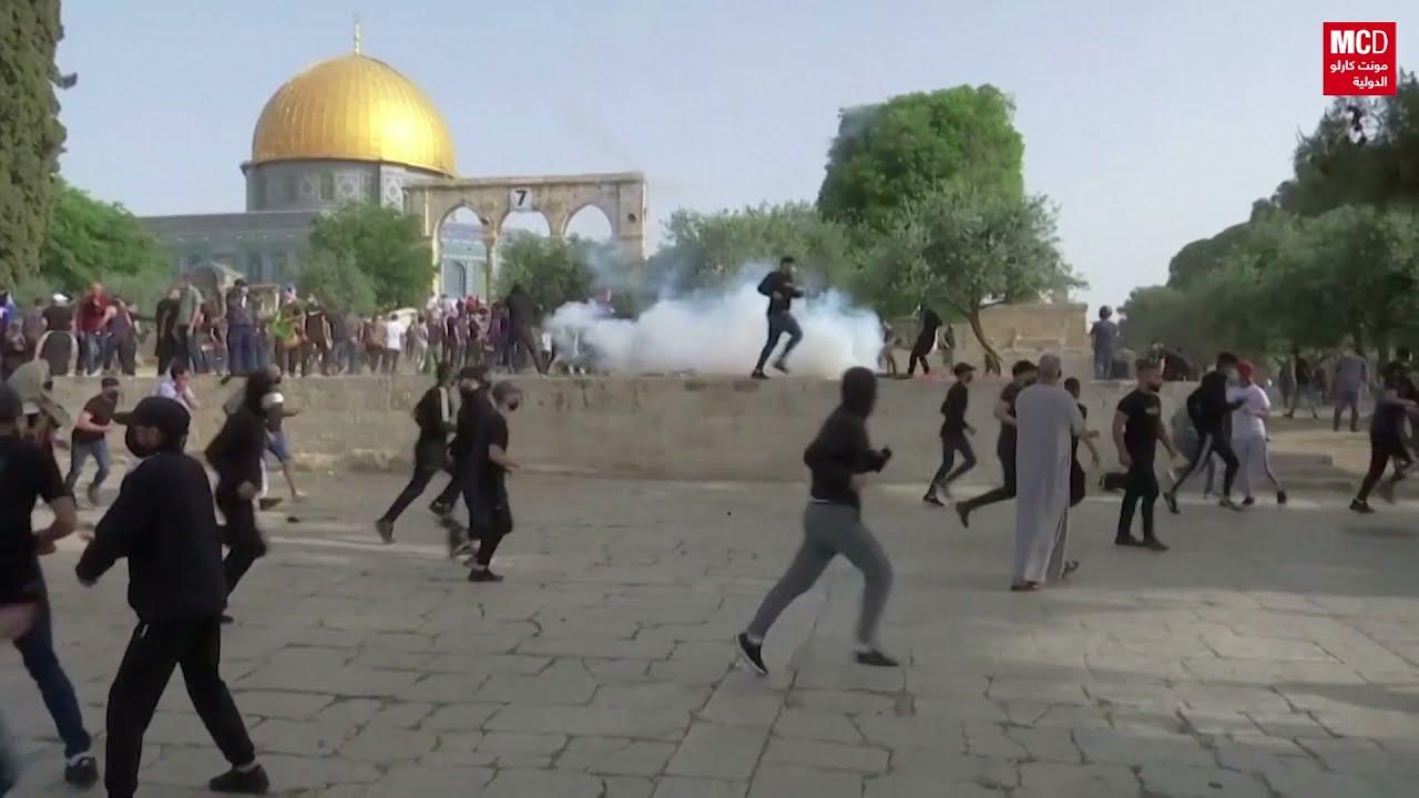 مئات الإصابات في المواجهات بين الشرطة الإسرائيلية وفلسطينيين عند المسجد الأقصى  - 12:51-2021 / 5 / 10