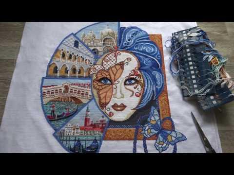 Венецианская маска вышивка