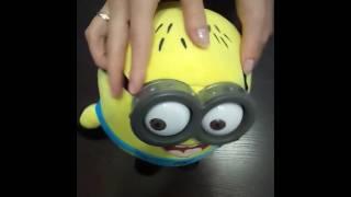 Мягкая игрушка Миньон плюшевый с пластиковыми глазами Джордж 30 см, купить в Украине,видео обзор