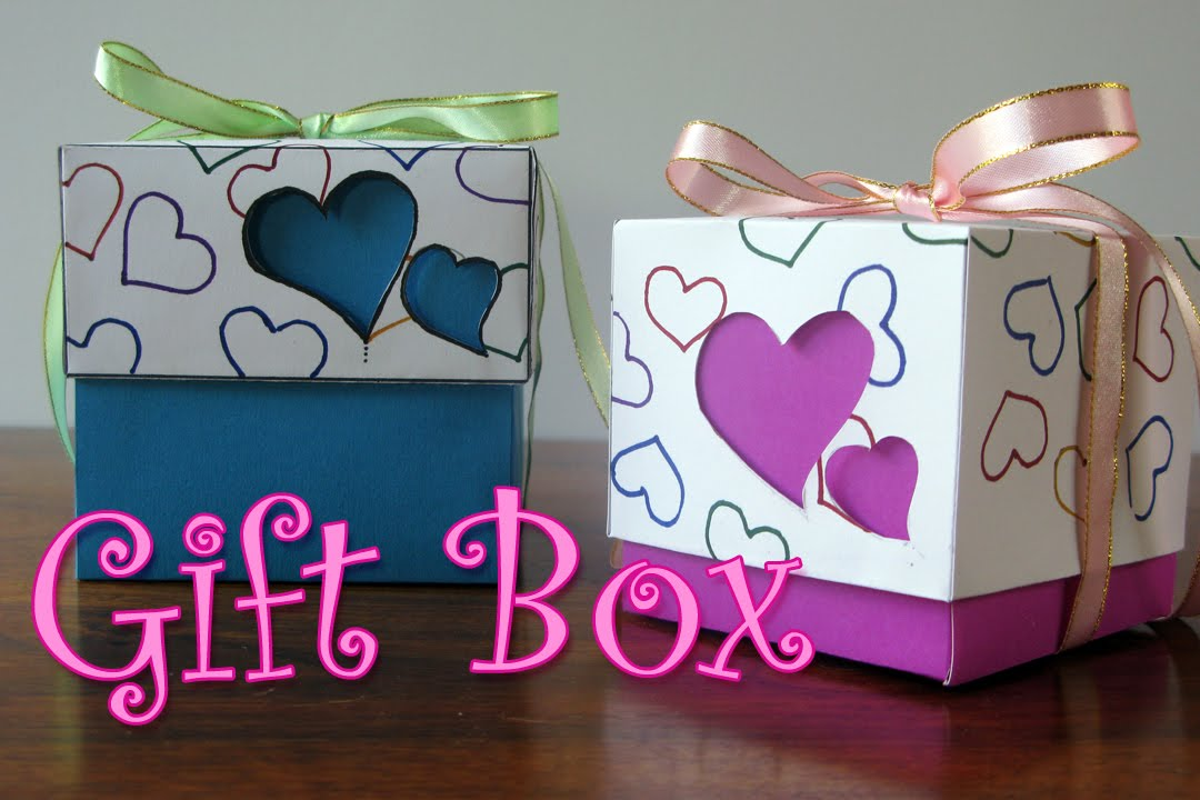 DIY Crafts Hearts Gift Box