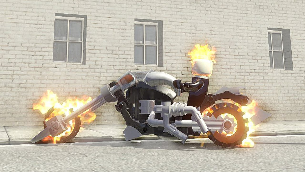 Ghost Rider And Ghost Rider Bike Lego Marvel Super Heroes Youtube