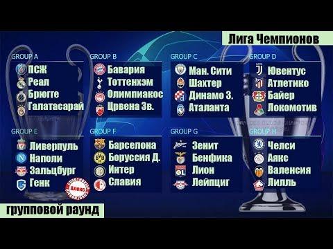 Футбол. Лига Чемпионов. 5 тур. Таблицы групп A, B, C, D. Расписание, таблица. Локомотив не выйдет.