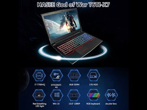 HASEE God of War T6TI-X7 Battle Version Gaming Laptop for Intel i7-7700HQ GTX1050Ti 4G GDDR5