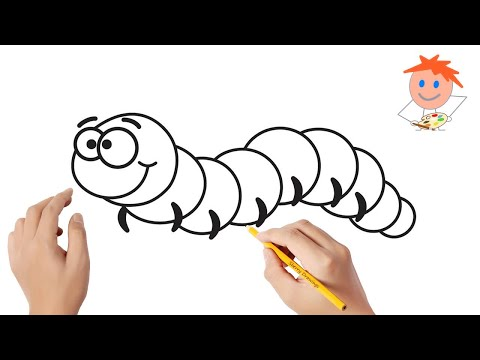 how-to-draw-a-caterpillar-easy-step-by-step-|-drawing-for-kids-💖