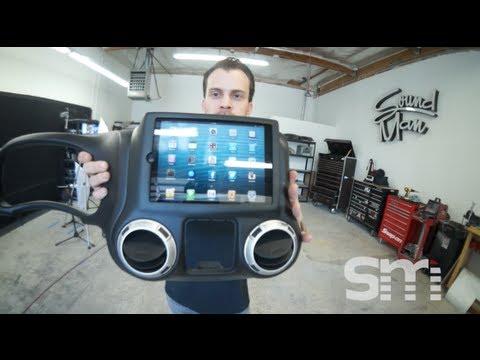 Ipad Mini Installed Into A Jeep Rubicon Dash Soundman
