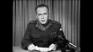 יצחק רבין בנאום לסיכום מלחמת ששת הימים (דיגיטציות ארכיון)