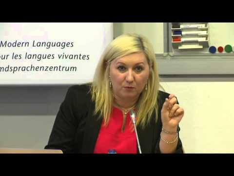 "ECML conference : presentation of PRO-Sign project ""Sign languages and the CEFR"""