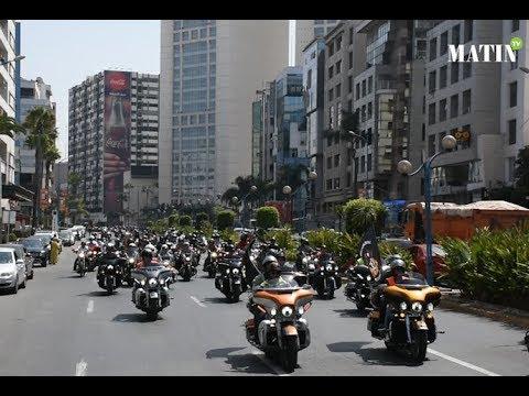 Les Harleyistes paradent à Casablanca