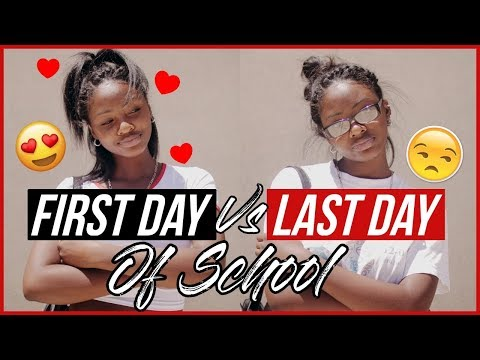 First Day VS. Last Day Of School!!