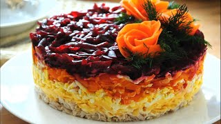 Вкусный салат на праздник ГЕНЕРАЛ Простой салат на праздничный стол с курицей