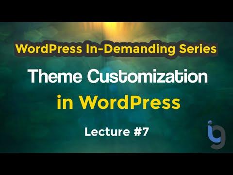 7. Theme Customization in WordPress Urdu/Hindi - WordPress Series by IG