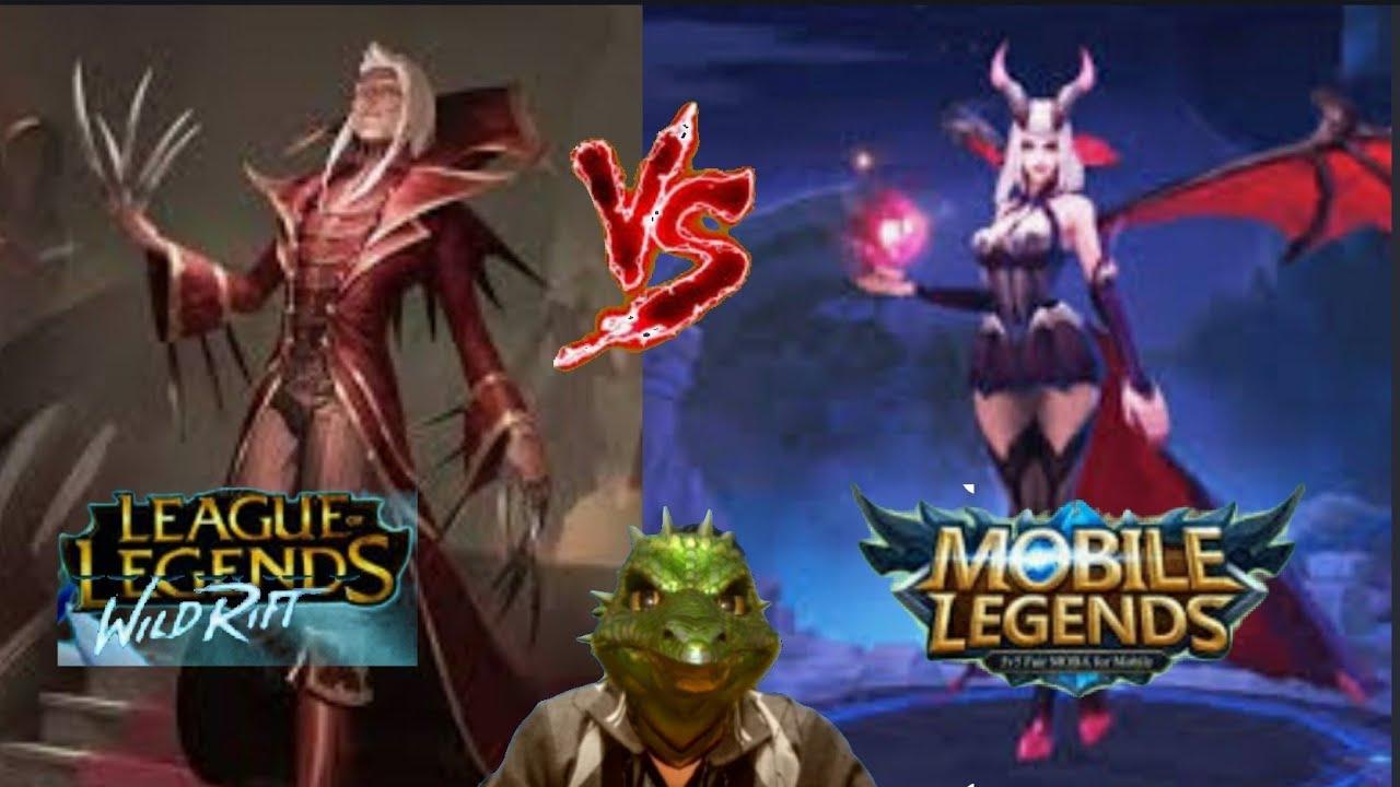 Vladimir Wild Rift League Of Legends Vs Alice Mobile Legend Vladimir Vs Alice Vampires Blood Mage Youtube