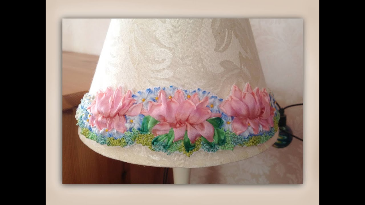 How to make a silk ribbon embroidery lampshade embellishment youtube how to make a silk ribbon embroidery lampshade embellishment aloadofball Choice Image