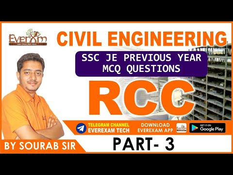 CIVIL ENGINEERING SSC JE PREVIOUS YEAR MCQ QUESTIONS RCC (PART- 3)
