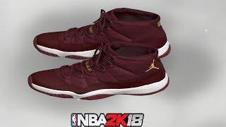 NBA 2K18 Shoe Creator ⋆ NBA2K18⋆ Jordan 11 Red Velvet 305ff9751d8