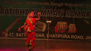 Semi Classical dance  Performed by Vaani Sharma Student of Jaipur Sangeet Mahavidyalaya