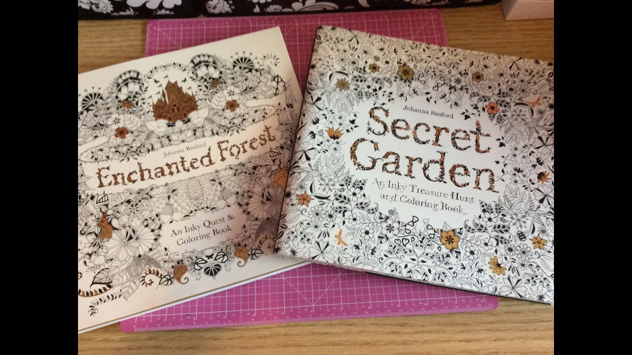 How much is the coloring book for adults - Crafty Share From Chapters Adult Colouring Books Secret Garden Enchanted Forest Youtube