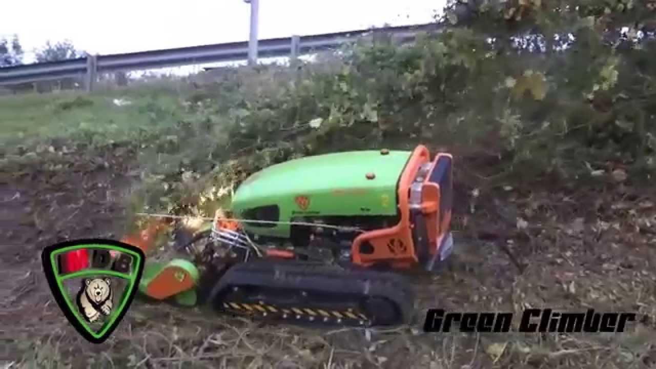 Green climber trattore radiocomandato con trincia awesome for T green srl
