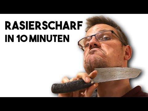 Messer Schärfen lernen in 10 Minuten im Schärfkurs Online