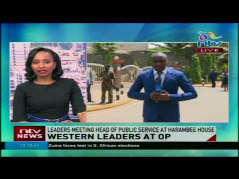Western leaders meet head of public service at Harambee house