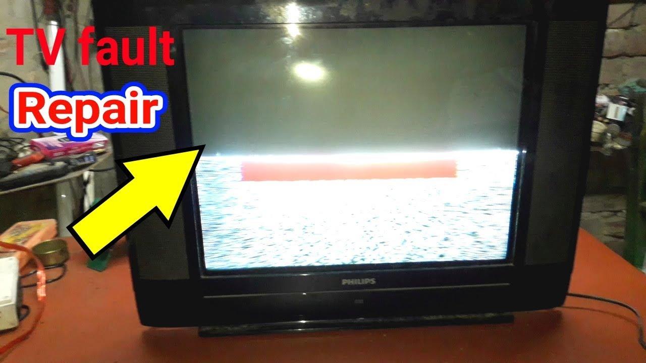 Crt Tv Half Screen Problem /philips tv repair / Crt Tv Repair