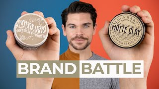 Apothecary 87 Clay Pomade vs. Lockhart's Matte Clay | Brand Battle
