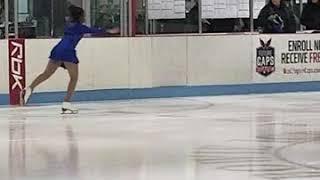 Jordan's stroking ice skating event  2/16