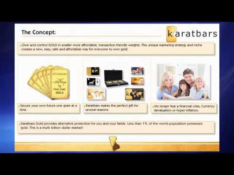 presentation of international business Karatbars save in gold and not paper money