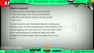 How To Download FaceBook Archive & Data Step by Step Tutorial Info Is Scary Be Warned!