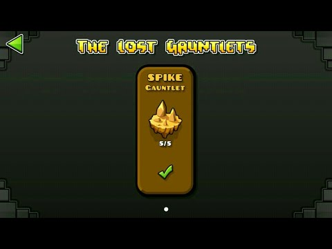 SPIKE GAUNTLET (ALL CLEAR) | GEOMETRY DASH 2.11 : The Lost Gauntlet Series #12 / ♬ Partition
