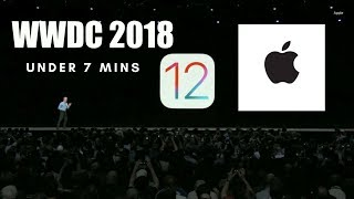 Apple WWDC 2018 - Under 7 Minutes    Highlights