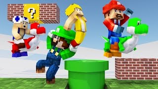 Minecraft | FIRST PERSON SUPER MARIO MOD CHALLENGE - Mario Mod Level 3!