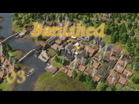 "Shroomworks Plays - Banished Ep 03 ""Windmill, Bakery & Trade Post"""