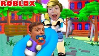 - РОБЛОКС поход в школу я стал малышом смешное видео для детей усынови меня Roblox SCHOOL Adopt Me