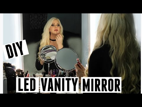 DIY VANITY MIRROR - WITH LED LIGHTS - MOST PERFECT SELFIE HACK EVER